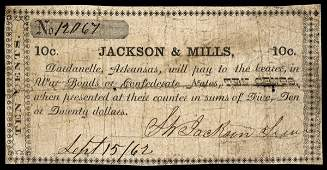 6001: AR Dardanelle. Jackson & Mills. 10 cents.