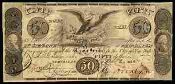 6003: CT Eagle Bank of New Haven $5 Haxby Plate