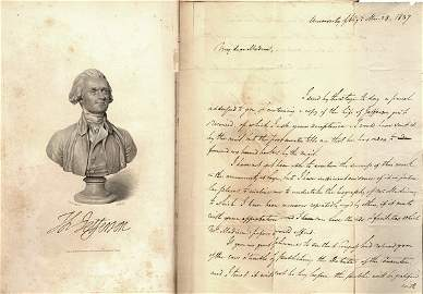 109: TUCKER'S bk 'Life of Jefferson,' ALS to D.Madison