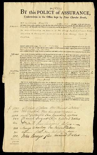INSURANCE IN 1796 - 4 documents