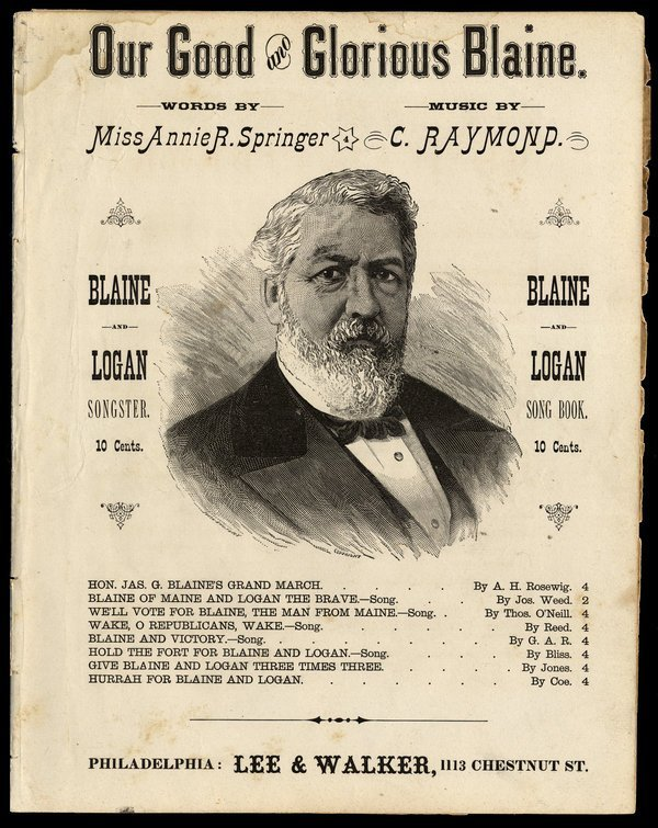 "SHEET MUSIC: ""Our Good & Glorious Blaine"""