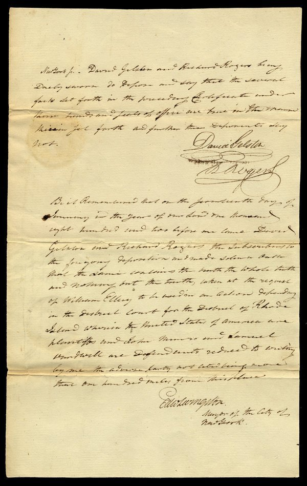 NEW YORK: COURT DOCUMENTS 1797-1863  [12]