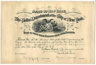 NYPD: 1890s, 4 DS, 2 photos, patrol memos