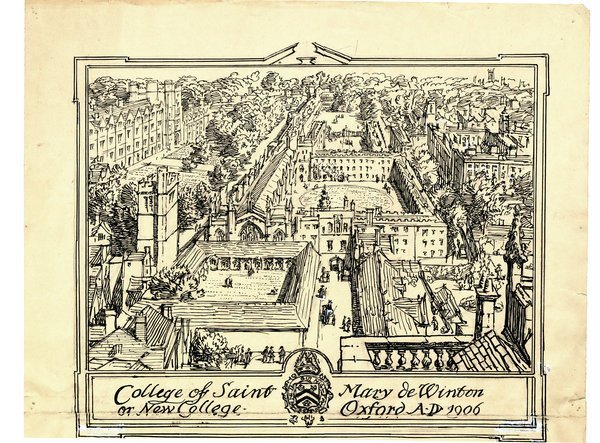 OXFORD: NEW COLLEGE ORIGINAL DRAWING