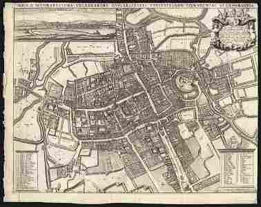 OXFORD: NOVA & ACCURATISSIMA  engraving