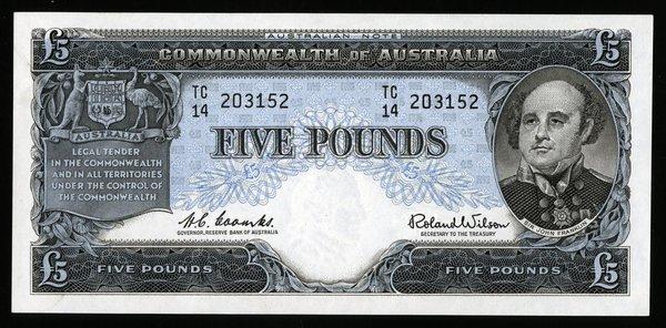 Australia 5 Pounds. P-35a. AU-Unc.