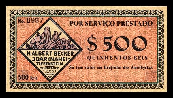 Brazil Banco da Bahia Specimen plus