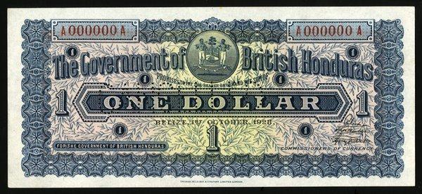 British Honduras. $1 P-14s. Specimen.