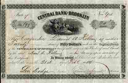 Central Bank of Brooklyn 1854