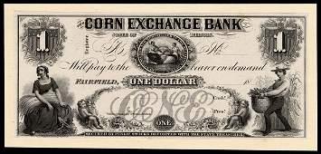 IL Fairfield Corn Ex. Bank $1 Proof