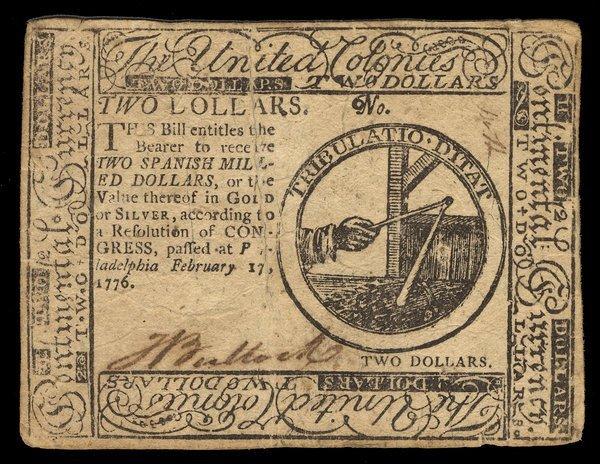 Continental 2.17.1776 $2 VF