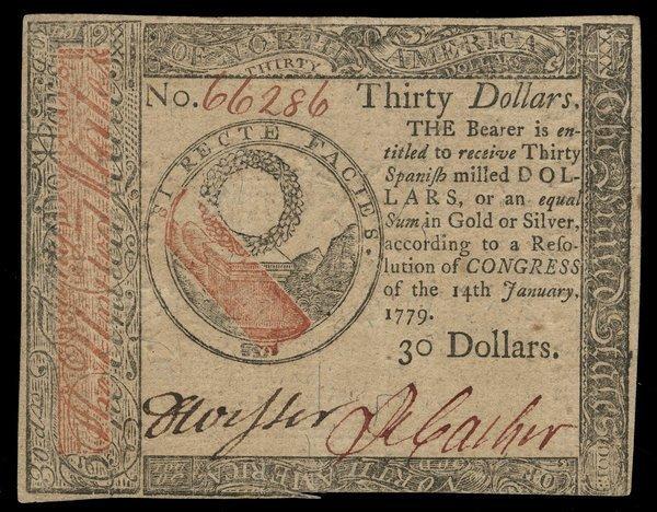 Continental 1.14.1779 $30 Choice AU