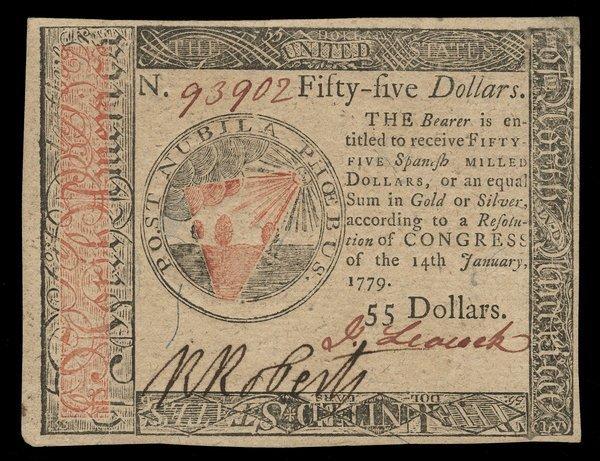 Continental 1.14.1779 $55. Ch Unc