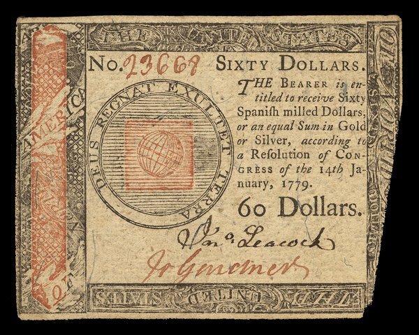 Continental 1.14.1779 $60. AU, miscut.