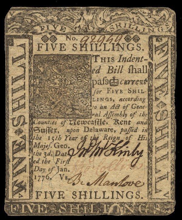 Colonial Delaware 1776 Assortment 5 pcs