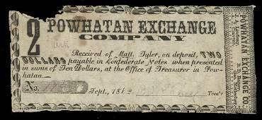AR Powhatan Exchange. $2. 1862.