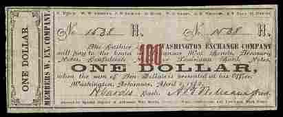 AR Washington Exchange Co. $1. 1862.