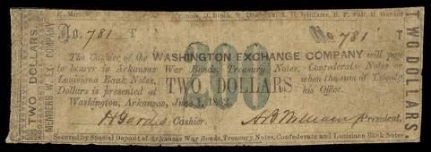 AR Washington Exchange. $2. 1862.