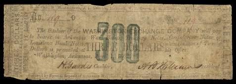 AR Washington Exchange. $3. 1862.