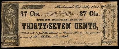 VA Richmond. Stephen Mason. 37�. 1861