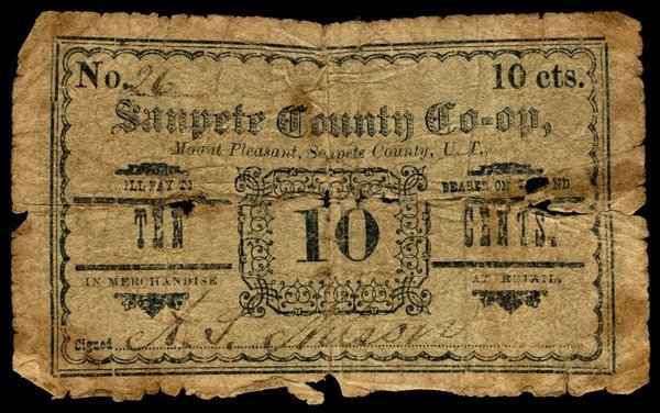 UT Mount Pleasant. Sanpete Co-Op. 10¢.