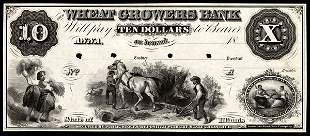 IL Anna. Wheat Growers Bank. $10. Proof