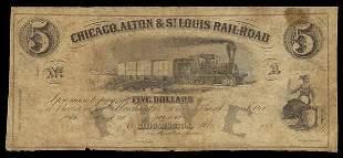 IL Chicago, Alton & St. Louis RR. 1850s. Fine