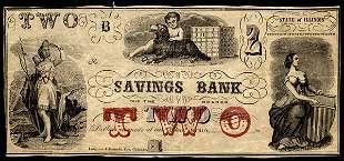 IL Byron. Savings Bank. $2. AU