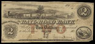 IL Decatur. Rail-Road Bank. $2. 1840. VF