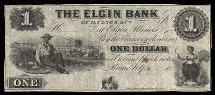 IL Elgin Bank of D. Clark & Co. 4 pcs