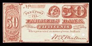 IL Freeport. Farmers Bank Scrip Notes 4 pcs