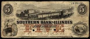 IL Grayville. Southern Bank of Illinois. $5. VF