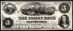 IL Griggsville. Pamet Bank. $3. Proof