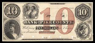 IL Griggsville. Bank of Pike County. $10. Proof