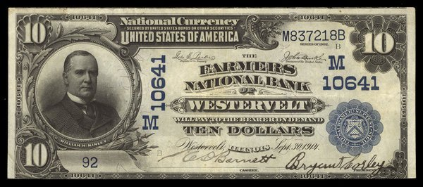 Ch.M10641. Westervelt. Farmers NB. $10. Fr.623