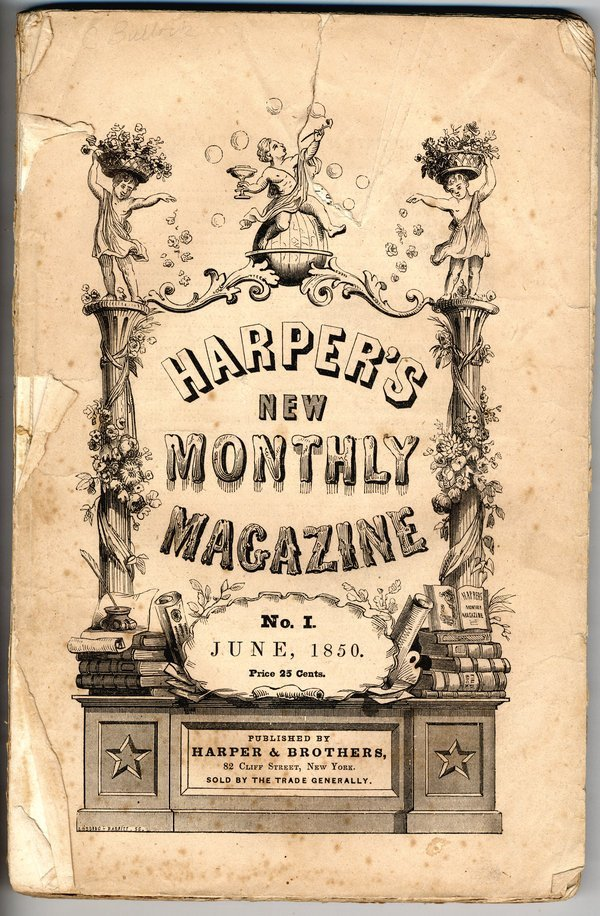 HARPER'S MONTHLY - 1st ISSUE, 1850