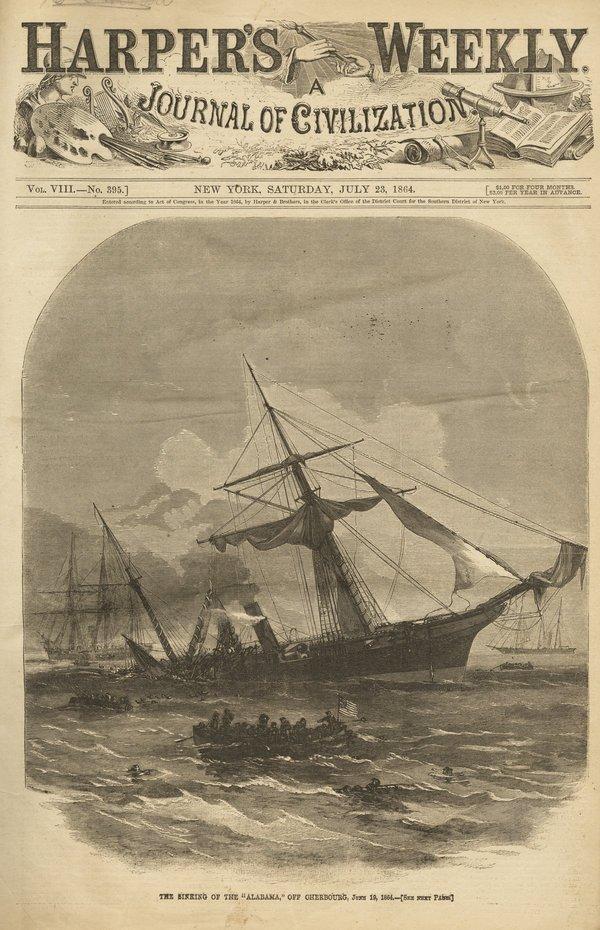 HARPER'S WEEKLY 1864 & 1865 some binding loose