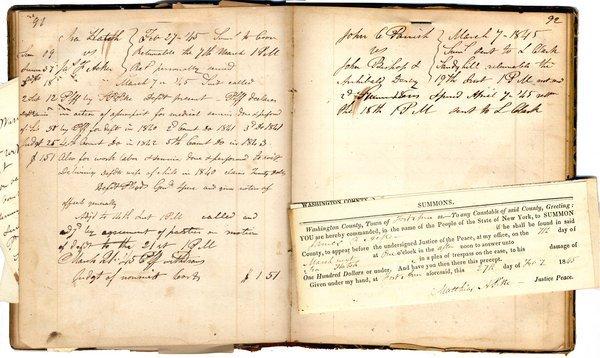 LEGAL DOCKET BOOK, 1844
