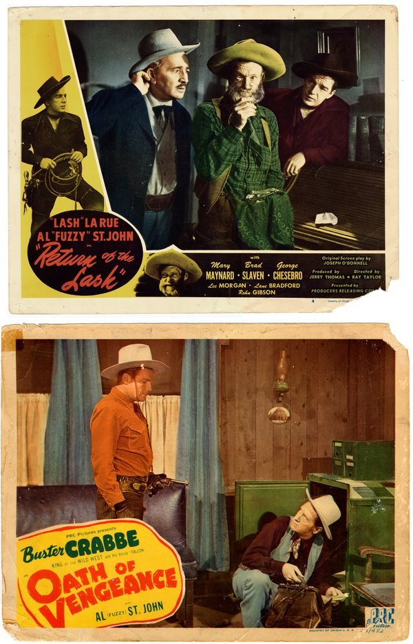LOBBY CARDS: COWBOYS  [17] Ritter, Crabbe, etc.