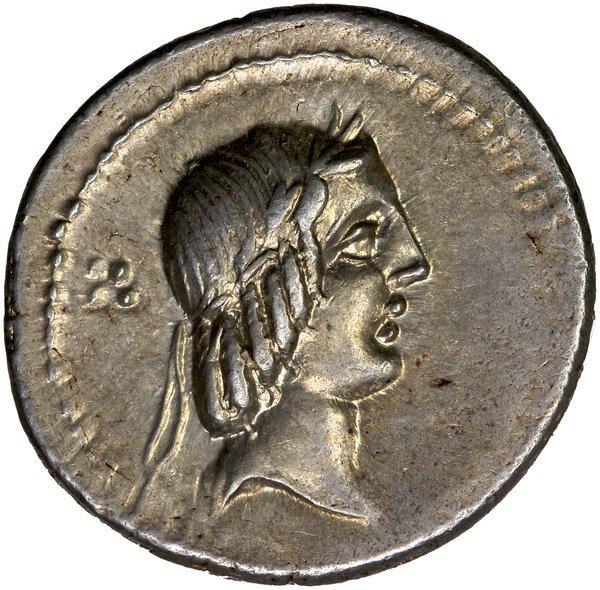 Roman Rep. Calpurnias Piso Frugi Denarius