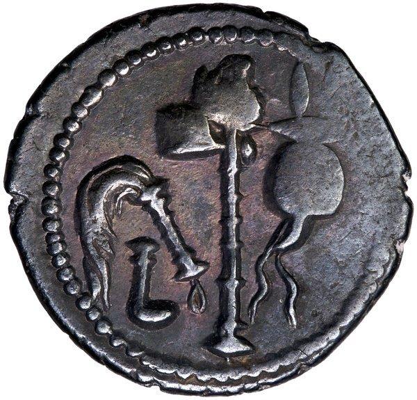 Roman Imp. Julius Caesar Denarius CR 443/1