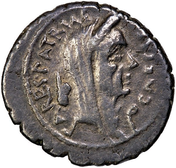 Roman Imp. Julius Caesar Denarius CRAW 480/19