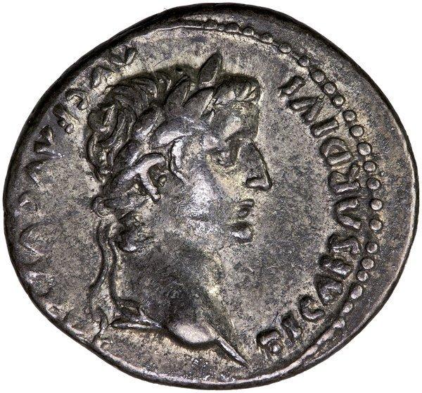 Roman Empire Tiberius Denarius Lugdunum