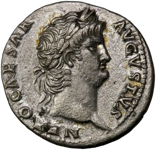 Roman Empire Nero Denarius RIC 62