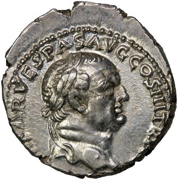 Roman Empire Vespasian Denarius RIC 332