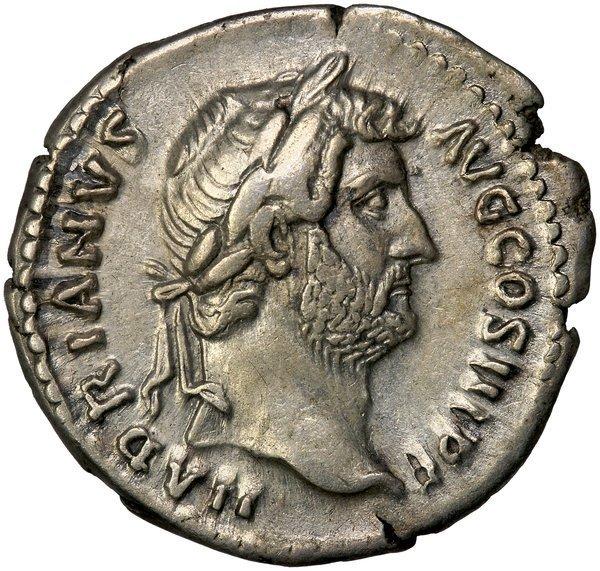 Roman Empire Hadrian Denarius RIC 326