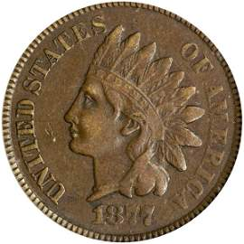 1877 Indian Cent ICG VF25