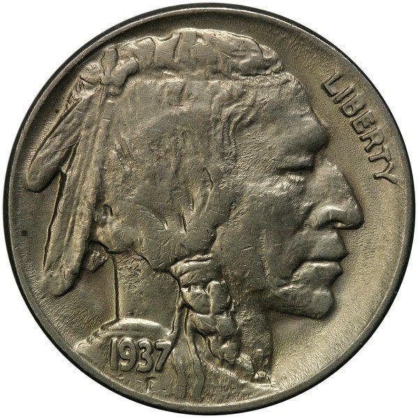 1937-D 3-Legged Buffalo Nickel Choice AU