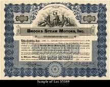 Brooks Steam Motors 1925-1930 shs VF.