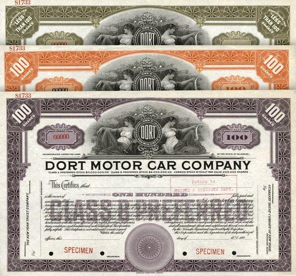 Dort Motor Car 192_ Specimen shs EF.
